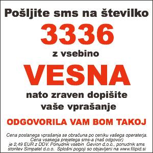 sms vedeževanje VESNA na 3336